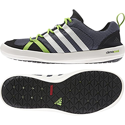 adidas Climacool Boat Lace Shoe - Men's Lead/Chlk/Semi Solr Green 10