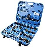 LLCTOOLS 28 pièces testeur de système de refroidissement Pompe de test à air comprimé Outil d'extraction de voiture