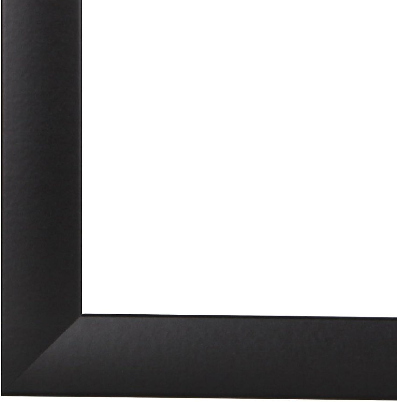 Olimp Bilderrahmen 28x180 oder 180x28 cm in SCHWARZ normal Kunstglas und Rückwand, 35 mm breite MDF-Leiste mit Dekor Folienummantelung