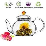 Glass Teapot No Drip Special Lead Free Glass (20 oz Amber Juliet)