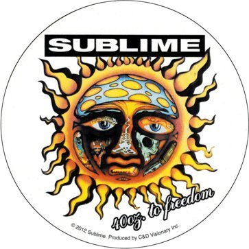 Square Deal Recordings & Supplies Sublime - 40 Ounces to Freedom Sun Logo - Sticker/Decal