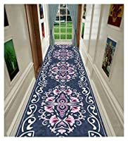 CnCnCn 入り口 玄関マット リビングルーム エリアラグ 廊下 階段 滑り止め フロアマット カーペット ランナー (Color : A, Size : 0.8x4.6m)