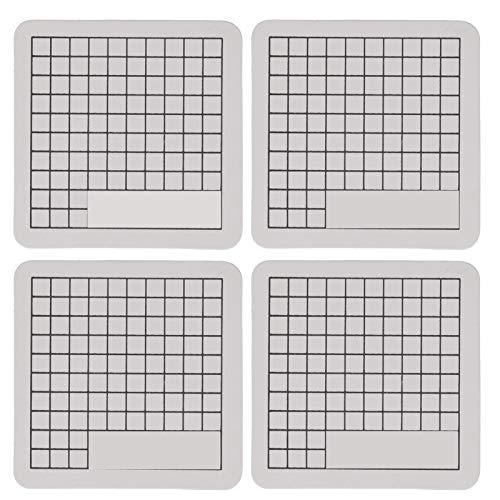 Tampon de découpe de tampon en caoutchouc, tapis de découpe de gravure Bonne auto-restauration 4 pièces pour la fabrication de tampons manuels pour la découpe de papier