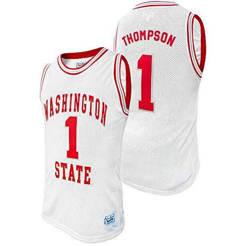Elite Fan Shop Klay Thompson Retro Washington State Basketball Jersey - X-Large - Klay Thompson White