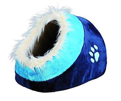 Trixie 36309 Kuschelhöhle Minou, 35 × 26 × 41 cm, dunkelblau/blau