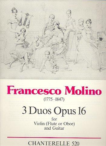 3 Duos op.16 : for violin (flute, oboe)