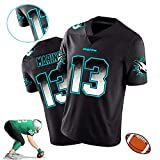 Dolphins # 13 Marino Hommes Rugby Jersey, Polyester Performance Player Jersey T-Shirt à Manches Courtes Classic Retro édition limitée Jersey S-3XL-2XL