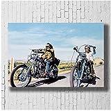 Easy Rider Classic Filmplakat Leinwand Wandkunst Druck