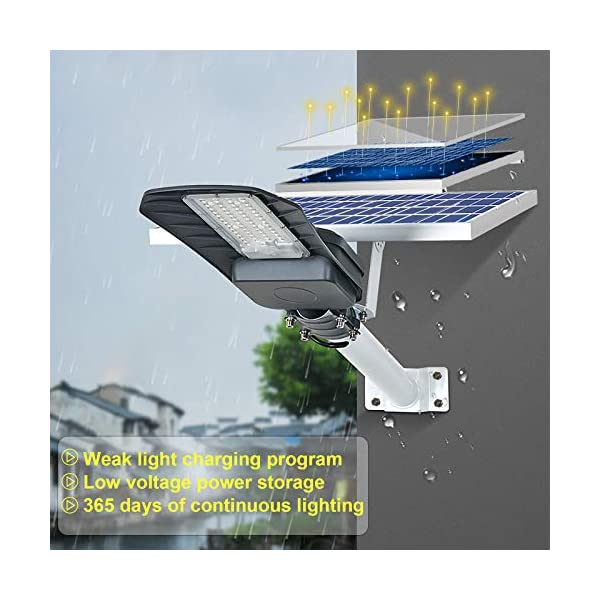 200W Solar Street Light Outdoor,Dusk to Dawn Solar Lights Outdoor with Remote Control,6500K Solar LED Flood Light for…