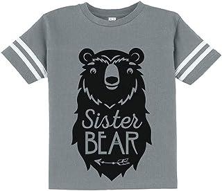 Big Sister Bear Cute Gift Sibling Girl Family Toddler Jersey T-Shirt