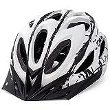FUNWICT Casco Bicicleta con Visera Removable Casco Bicicleta de Montaña con Luz Trasera para Hombre Mujer Ciclismo Casco Adecuado para Circunferencia de Cabeza 57-61 cm (WHInkBlack)