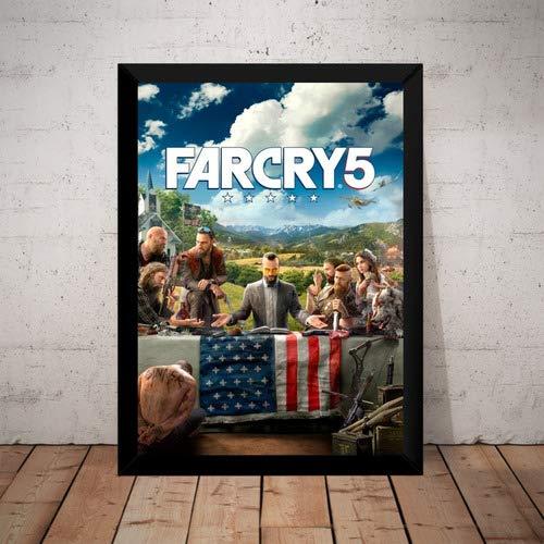 Quadro Game Far Cry 5 Arte Poster Moldurado