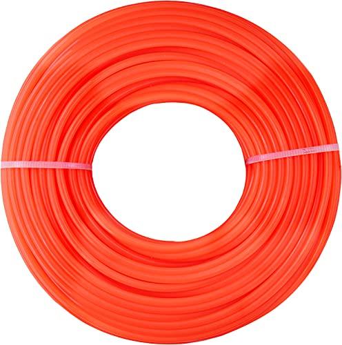 CON:P Trimmerfaden 2,4 mm x 25 m - Ersatz-Faden für Rasentrimmer-Spulen - Runder Querschnitt - rot / Mähfaden / Trimmerschnur für Motorsense / CMB322425