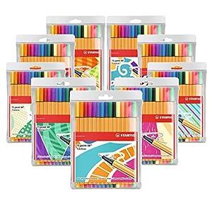 Rotulador punta fina STABILO point 88 – Estuche con 15 colores, Individual Just Like You, no hay dos iguales