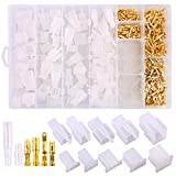 Swpeet 700Pcs Automotive Electrical Wire Connectors Kit, 2.8mm 2 3 4 6 9 Pin Automotive Electrical Wire Connectors Pin Header Crimp Wire Terminals and 30 Kits 4mm Car Motorcycle Bullet Terminal Wire