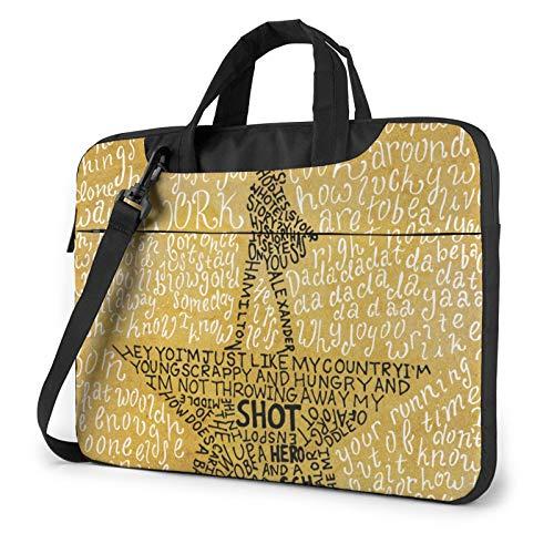 Ha_Milton Th_E Mu_Sical Qu_Otes Llaptop Bag 15.6 Inch Briefcase Shoulder Bag Satchel Tablet Bussiness Carrying Handbag Laptop Sleeve