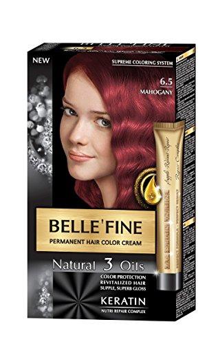 BelleFine No.6.5 Hårfärg i mahogny med keratin, argan, mandel och olivolja