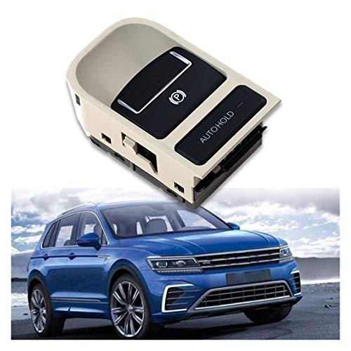 XHAJFNCO Little Rich Man EPB Electronic Handbrake Parking Switch Fit For-VW Tiguan Sharan Seat 5N0927225A (Color : Beige)