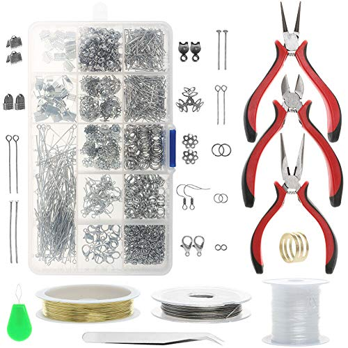 Miracle Jewelry Making Starter Kit, Jewellery Making Kit, Repair Tool Set, for Adults and Beginners, DIY Crafts Wire Pliers Accessories