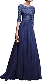 neveraway Women's Party Swing Empire-Waist Wedding Elegant Long Maxi Dress
