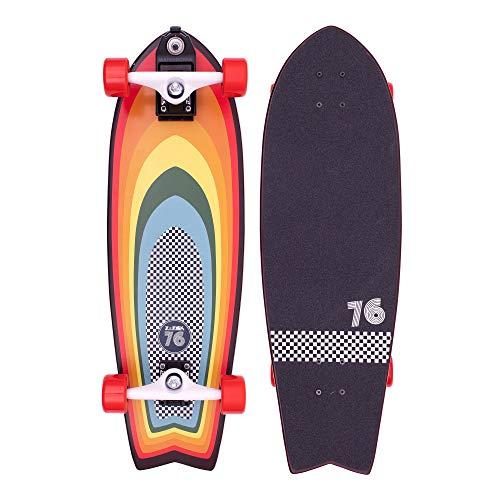 Z-Flex Surf-a-gogo Surfskate Fish Longboard, Adults Unisex, Multi (Multicolor), 31 in