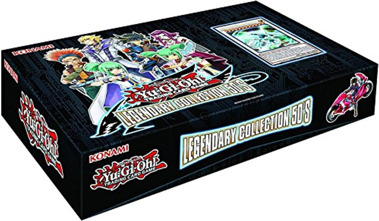 Yugioh TCG Card Game Legendary Collection Set  5 LC5 5D's Box Set  48 Cards (5 mega Packs boosters + 3 Promo Cards)