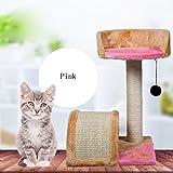 Pet Online CAT Scratch tablero cómodo árbol de gato con plataforma juguetes para mascotas, rosa