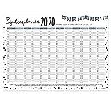 Wand-Kalender 2020 Konfetti I DIN A3 Quer-Format I Süßer Jahresplaner mit Feiertagen für Büro Küche - Mädchen Frauen WG Familie I dv_578