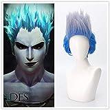 Nueva llegada descendiente 3 Cosplay Hades peluca hombres Mal padre personaje Hadespeluca sintética parahombrefiesta estilo zafiro pelo azul