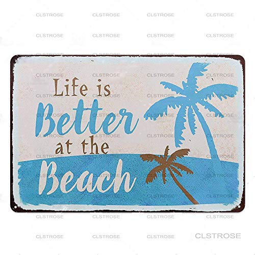 Carteles De Metal Cartel De Placa Vintage Decoración De Pared Summer Beach Surf Club Hawaii Party Club Party Pub Bar Decoración California