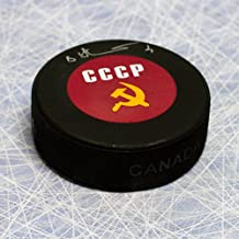Viktor Kuzkin CCCP-Russia Autographed Olympic Hockey Puck
