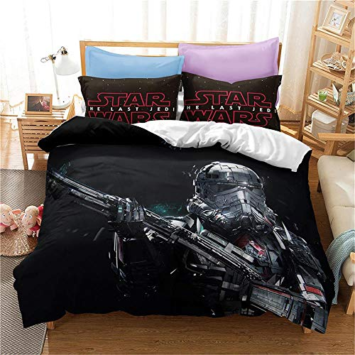 MENGBB Duvet Cover Set 3D Effect America movie planet robot metal 135x200cm Total 4 Size, give away pillowcase, Duvet Cover single bed with 2 Pillow Cases 50x75cm Microfiber Bedding Quilt Cover Set wi