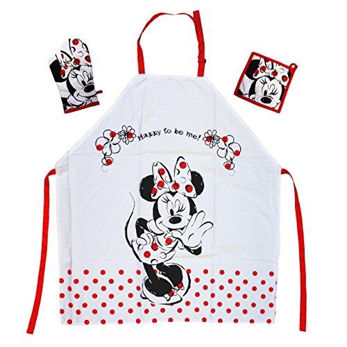 Tex idea Das Geschenk für Walt Disney Minnie Mouse Fan: Kochschürzenset mit Minn...