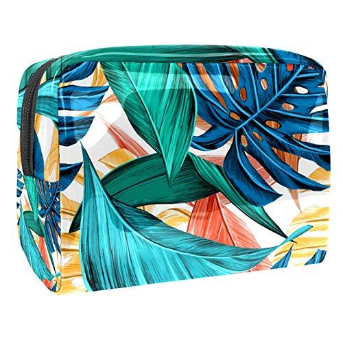 Tropical Summerleaf (L x W x H) 18,5 x 7,5 x 13 cm, organizador de maquillaje de PVC para mujeres y niñas