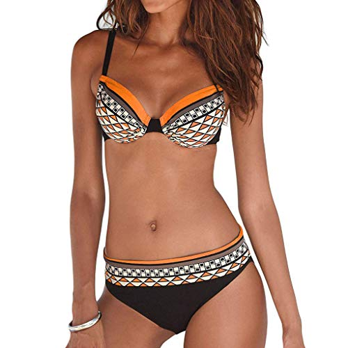 IFOUNDYOU Damen bikibi Sexy Bikini-Anzug Und Blumendruck Badeanzug Zweiteiliger Badeanzug Badeanzug Strand Schlank Abnehmen Bikini Set 2019 Neu Frauen Badeanzug