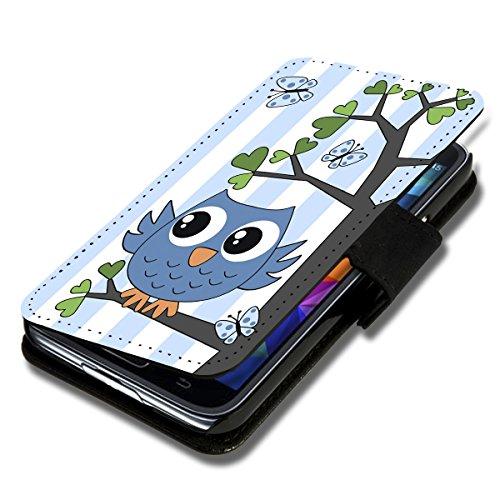 wicostar Book Style Flip Handy Tasche Hülle Schutz Hülle Schale Motiv Etui für Wiko Sunset 2 - Flip 1A35 Design6