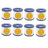 BBUY Filtro de piscina inflable, filtro de papel para piscina Bestway tipo VII y...