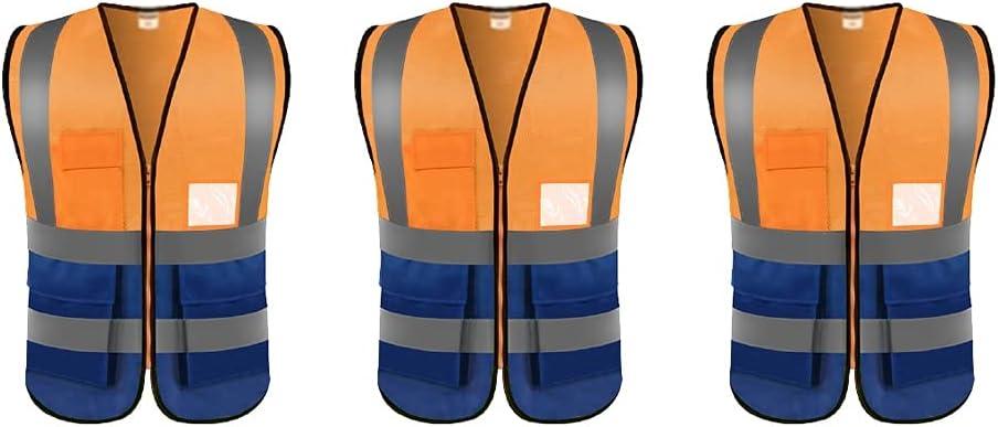lhl quality assurance Bright Reflective Vest High Max 63% OFF Pocket Multifunctional Visibilit
