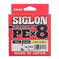 サンライン(SUNLINE) ライン シグロン PEx8 150m ライトグリーン 0.5号 8LB J