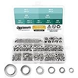 Jayzuum 720 Pezzi Rondelle piatte, acciaio inossidabile 304 Rondella piatta per viti di te...