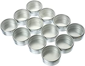 "SE Circular Glass Top Bins, 2.5"" Diameter (12 PC.) - 876312DB-P"