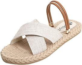 ALLAK Sandals Wide Band Summer Slide with Twist Knot Flat