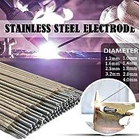 溶接棒 半田のための304のステンレス鋼の溶接の棒電極はんだのはんだ径1.0mm-4.0mm 1/10 / 10/20 / 50pcs (Diameter : 1.4mm, Material : 50pcs)