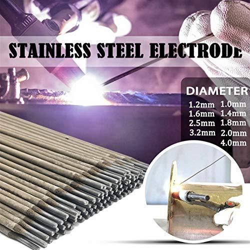 Alambre de soldadura DIDIHOU 304 de acero inoxidable para soldadura 304 alambres de soldadura de 1,0 mm-4,0 mm 1/5/10/20/50 piezas (diámetro: 1,6 mm, material: 1 unidad)