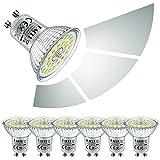 EACLL Bombilla LED GU10 6W Regulable, Atenuación de 3 Niveles, Brillo de 3 Pasos. 6000K Blanco Frio 635 Lúmenes Lámparas Reflectoras, AC 230V Sin Parpadeo Focos, 6 Pack