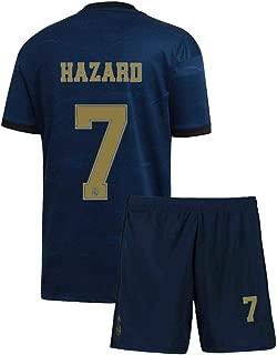 Kids Hazard Jersey 2019/20 Real Madrid #7 Youth Away Soccer Eden
