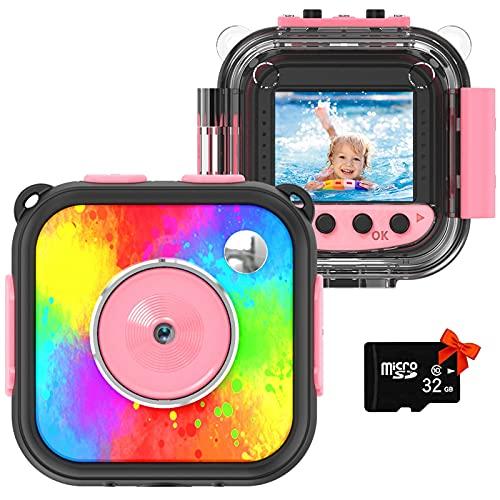 Uleway Macchina Fotografica Bambini, Impermeabile Fotocamere Digitali Subacquea, Regalo di...
