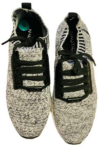 Nautica Women Fashion Sneaker Lace-Up Jogger Running Shoe-Zyla-Grey-6.5