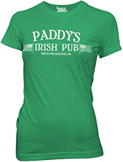 It's Always Sunny in Philadelphia Juniors Paddy's Irish Pub Light Weight 100% Cotton Crew T-Shirt