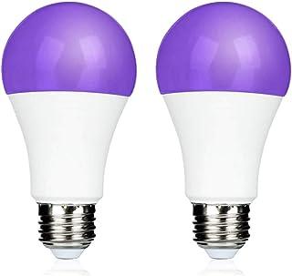 9W Ampoule UV LED E27 pour Neonparty, UVA 395nm Lumière Noire, Lampe de Ultraviolet Violette, Blacklight UV LED, Lampe UV ...